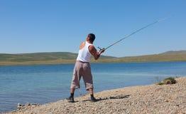 Asian fisherman Royalty Free Stock Photography