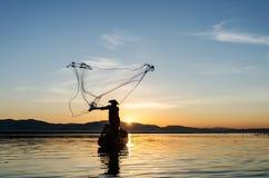 Asian fisherman Royalty Free Stock Photo