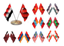 Asian flags 4. Royalty Free Stock Image