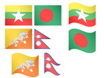 Asian Flags 5 Royalty Free Stock Photo