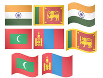 Asian Flags 6 Stock Image