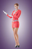 Asian flight attendant Royalty Free Stock Photos