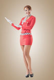 Asian flight attendant Royalty Free Stock Images