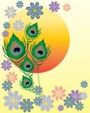 Asian flower design Stock Photo