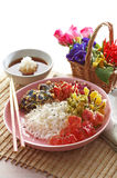 Asian flower fried on rice Royalty Free Stock Image