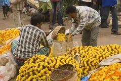 Asian Flower Market Stock Photos