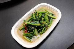 Asian food. Stir fry of vegetables & chili Royalty Free Stock Photography