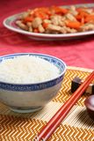 Asian food. Close-up view of asian food and tableware royalty free stock photography