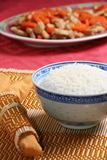 Asian food. Close-up view of asian food and tableware royalty free stock photos