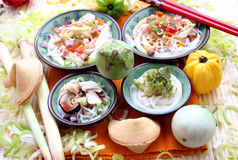 Asian food. Some asian food with noodles and different vegetables Stock Image
