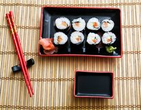 Asian food. Japanese meal, sushi, asian culture Stock Photography