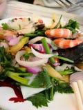 Thai seafood salad stock photo
