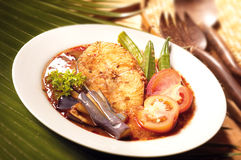 Asian food asam fish Stock Images