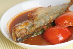 Asian food asam fish Stock Photos