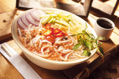 Asian food asam laksa Stock Photos