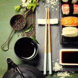 Asian food background Royalty Free Stock Images