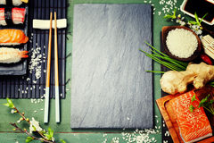 Asian food background Stock Photos