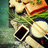 Asian food background Royalty Free Stock Photos