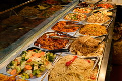 Asian food. In Camden Town Market, London Royalty Free Stock Images
