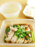 Asian food chicken rice Stock Photos