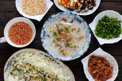 Asian food, chicken rice gruel, chao ga royalty free stock photography