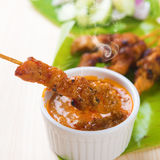 Asian food chicken sate Royalty Free Stock Photography