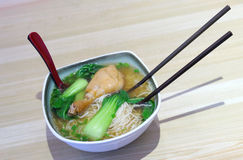 Asian food and chopsticks Stock Image