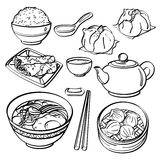 Asian food Collection Royalty Free Stock Photography