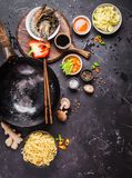 Asian food cooking concept Stock Images