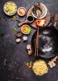 Asian food cooking concept Royalty Free Stock Image