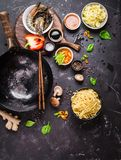 Asian food cooking concept Stock Image