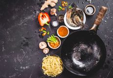 Asian food cooking concept Royalty Free Stock Photo
