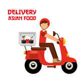 Asian food delivery Royalty Free Stock Photos