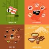 Asian Food Design Concept Royalty Free Stock Photos