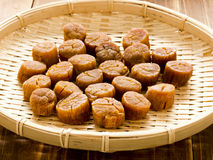 Asian food, dried scallops Royalty Free Stock Images