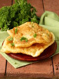 Asian food fried pies with meat (cheburek) Royalty Free Stock Photos