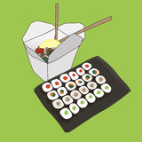 Asian food illustration Royalty Free Stock Images