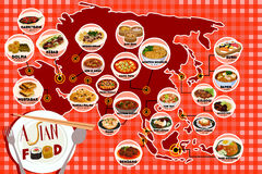 Asian Food Infography Royalty Free Stock Photo