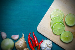 Asian food ingredient background Stock Images