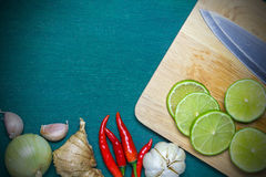 Asian food ingredient background Stock Photography