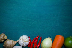 Asian food ingredient background. / Healthy and organics concept Royalty Free Stock Photography