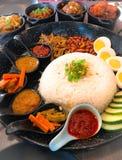 Nasi lemak an Asian delicacy. Asian food known as nasi lemak stock photos