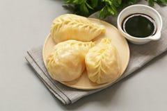 Asian food, manti dim sum stock image