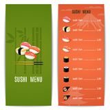Asian Food Menu Royalty Free Stock Photos