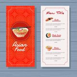 Asian food menu template blue background. Additional file in eps 10 Stock Photography