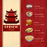 Asian Food Menu Royalty Free Stock Photography