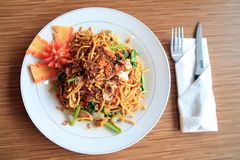 Asian food named mie goreng. From indonesia stock image