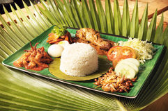 Asian food nasi lemak Stock Photo