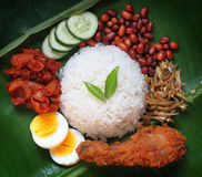 Asian food nasi lemak Royalty Free Stock Images