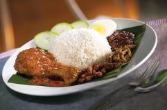 Asian food nasi lemak Royalty Free Stock Image